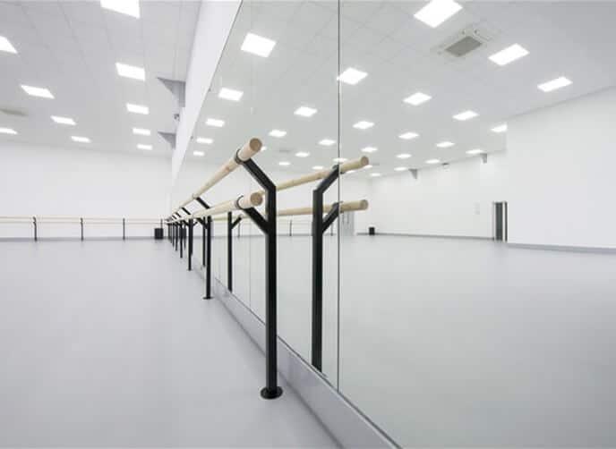 Harlequin floor mounted ballet barres