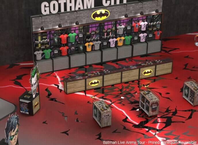 Harlequin reversible, printed Batman Live Arena