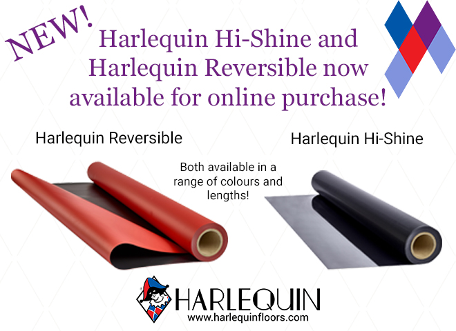 Vinyl rolls now available on the Harlequin Online Shop